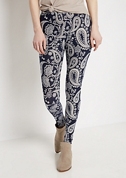 Floral Paisley Soft Knit Legging