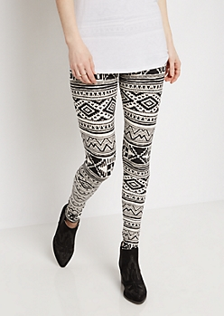 Southwest Black & Ivory Soft Knit Legging