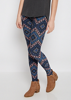 Tribal Diamond Chevron Brushed Legging