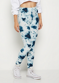 Blue Tie Dye High Rise Legging
