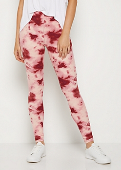 Pink Tie Dye High Rise Legging