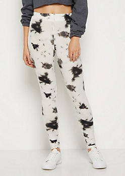 Black Tie Dye High Rise Legging