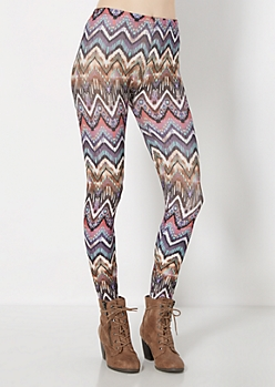 Multi Chevron Brushed Legging