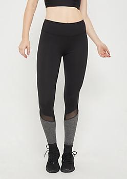 Charcoal Mesh Color Block Legging