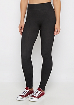 Black French Terry Lined Legging