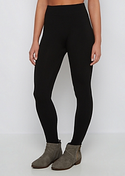 Black Slimming French Terry Legging