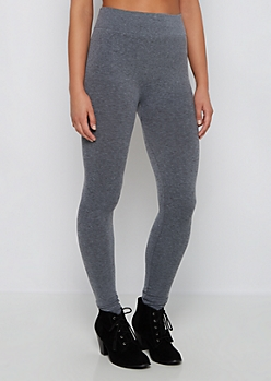 Heather Gray Slimming French Terry Legging