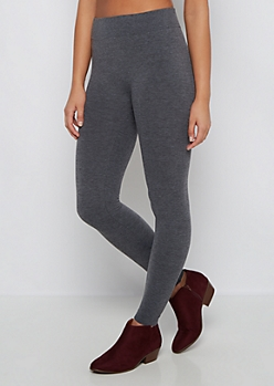 Charcoal Slimming French Terry Legging
