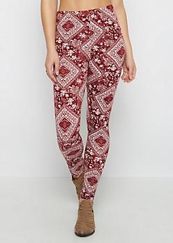 Geo Floral Folklore Soft Knit Legging