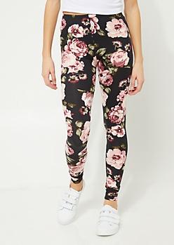 Pink Blossom Soft Brushed Legging