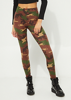Green Camo Soft Brushed Legging