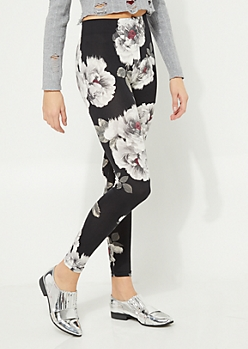 Gray Blossom Soft Brushed Legging