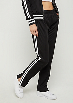 Black Tapered Track Pant