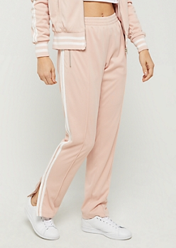 Pink Tapered Track Pant