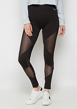 Mesh Inset High Rise Legging