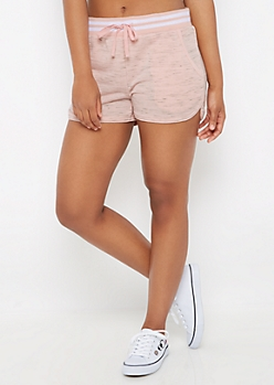Pink Space Dye Dolphin Short