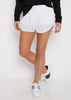 White Mesh Short