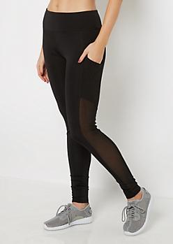 Black Mesh Pocket Legging