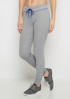 Heather Grey Serge Stitched Jogger