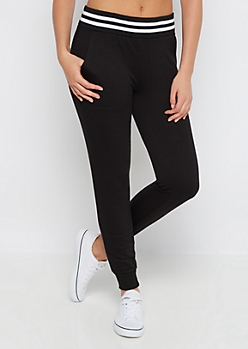 Black Soft Touch Knit Jogger