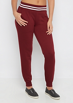 Burgundy Soft Touch Knit Jogger