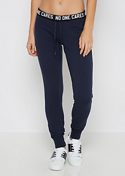 No One Cares Fleece Slim Jogger