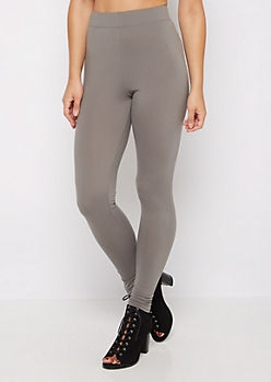 Charcoal Essential Brush High Waist Legging