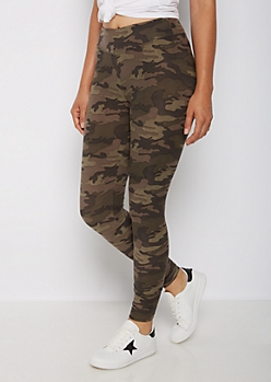 Camo Mid Rise Soft Brushed Legging