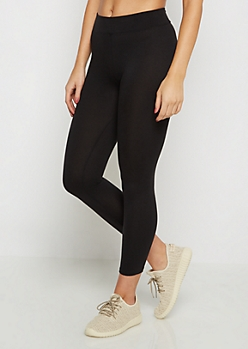 Wide Waistband Cropped Legging