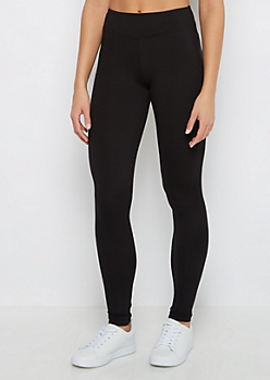 Black High Waist Soft Knit Legging