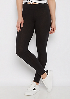 Black Wide Waist Jersey Legging