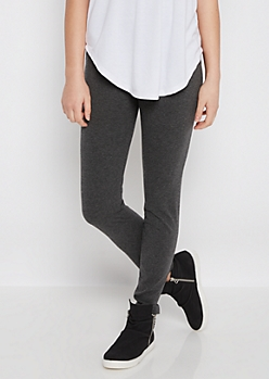 Charcoal Gray Soft Knit Legging
