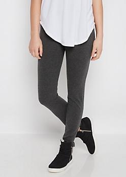 Charcoal Gray Soft Knit Legging