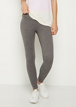 Charcoal Gray Mid Rise Legging