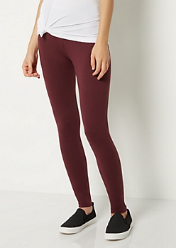 Purple Mid Rise Legging