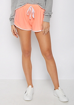 Coral Piped Knit Short