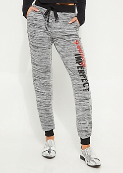 Heather Gray Perfectly Imperfect Hacci Knit Joggers