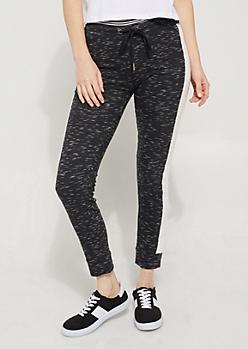 Black & White Contrast Striped Joggers