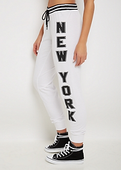 Made in NYC Striped Waist Jogger