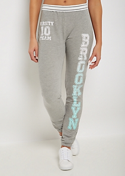 Brooklyn Varsity Folded Striped Waist Jogger