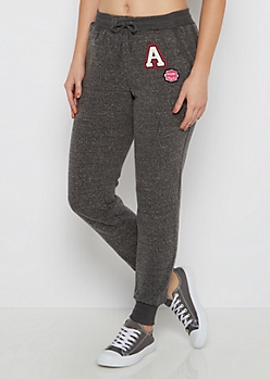 Black Marled A-List Fleece Jogger