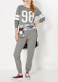 Heather Gray Boss Jogger
