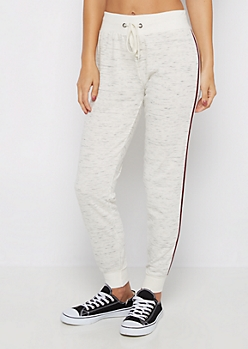 Marled Double Striped Jogger