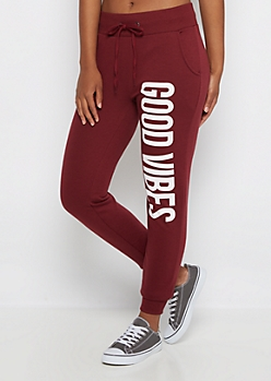 Good Vibes Cuffed Soft Knit Jogger