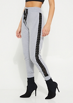 Heather Lace Up Jogger