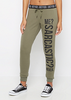 Sarcasm? Soft Knit Slim Jogger