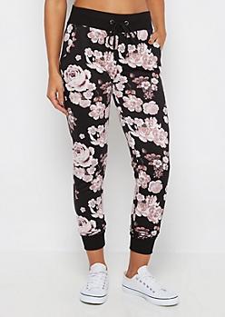 Pink Rose Soft Knit Jogger