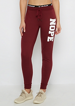 Nope Layered Fleece Jogger