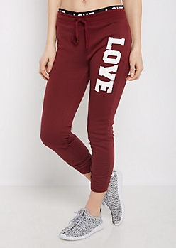 Love Layered Waistband Jogger