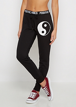 Yin Yang Fleece Slim Jogger